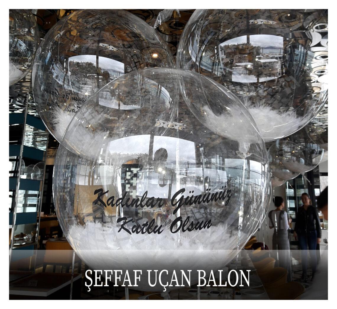 Şeffaf Uçan Balon
